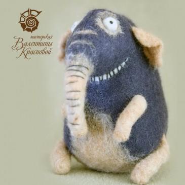 Слон редкий, полосатый